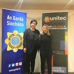 Michelle & Ava, from the Unitec team, at the Garda Fraud & Cyber Crime Prevention Seminar in Clonmel in February 2020