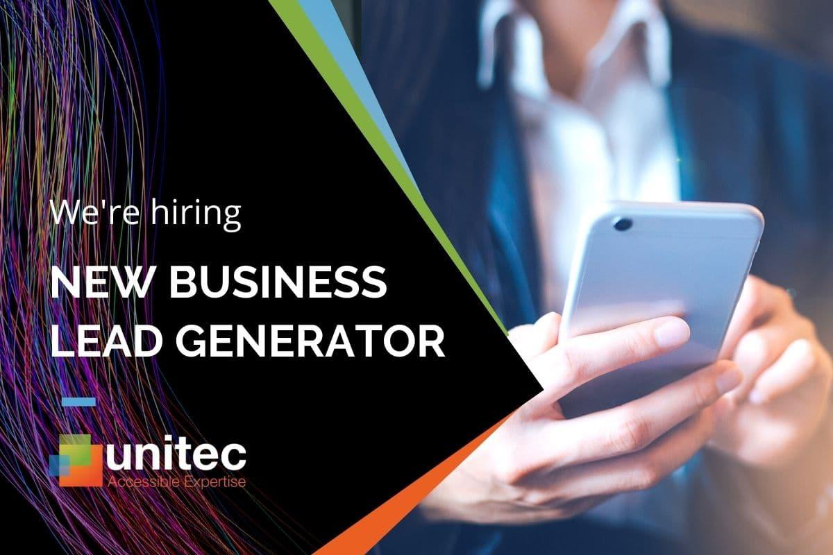 Unitec are hiring - new business lead generator